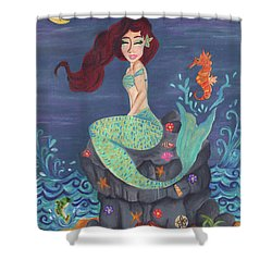 Under The Merlight Sea Shower Curtain