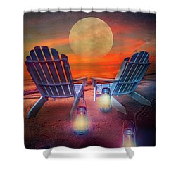 Shower Curtain featuring the photograph Under The Moon by Debra and Dave Vanderlaan