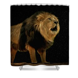 Under The Moon Shower Curtain