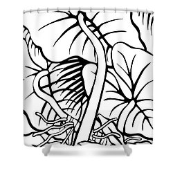 Under The Night Leaves Shower Curtain
