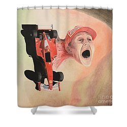 Under The Nose Shower Curtain