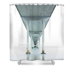 Under The Ocean Beach Pier Early Morning Shower Curtain