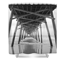 Under The Pier Shower Curtain by Betty Buller Whitehead