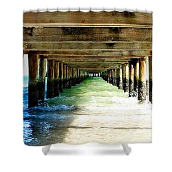 Anna Maria Island Pier Excellence In Photography Award 2016 Shower Curtain by Margie Amberge
