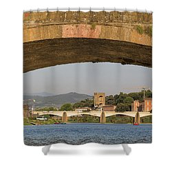 Under The Ponte Santa Trinita Shower Curtain