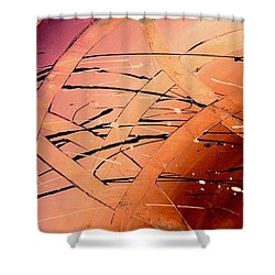 Under The Sea Abstract Modern Art By Saribelle Shower Curtain