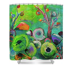 under the sea  - Orig painting for sale Shower Curtain