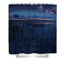 Under The Shadows Shower Curtain