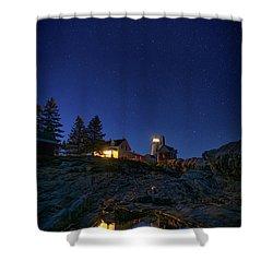 Under The Stars At Pemaquid Point Shower Curtain by Rick Berk