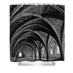 Under The Vaults. Vertical. Shower Curtain