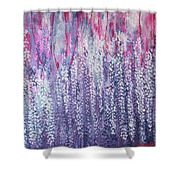 Under The Wisteria Shower Curtain