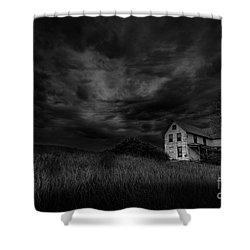 Under Threatening Skies Shower Curtain