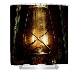 Underground Mining Lamp  Shower Curtain