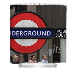 Underground Sign London Shower Curtain