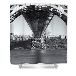 Underneath The George Washington Bridge IIi Shower Curtain