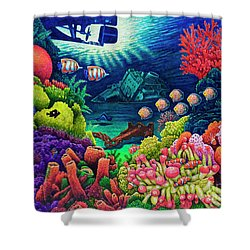Undersea Creatures Vii Shower Curtain