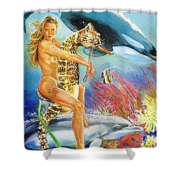Undersea Fantasy Shower Curtain by Bryan Bustard