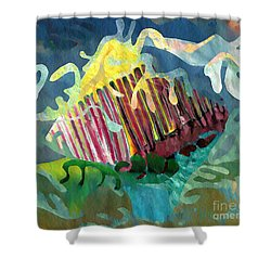 Undersea Still Life Shower Curtain by Sarah Loft