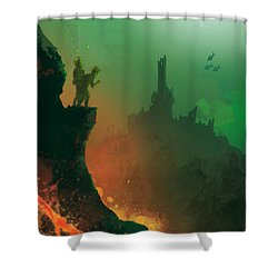Undersea Volcano Shower Curtain by Andy Catling