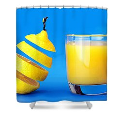 Underwater Diving On A Floating Orange Shower Curtain