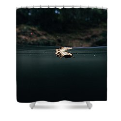 Underwater Leaf Shower Curtain