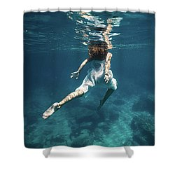 Underwater White Dress Iv Shower Curtain