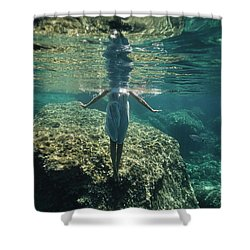 Underwater White Dress V Shower Curtain