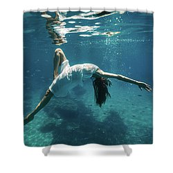 Underwater White Dress Viii Shower Curtain