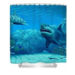 Underwater World Shower Curtain by Corey Ford