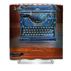 Underwood Typewriter Shower Curtain by Dave Mills