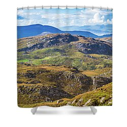 Shower Curtain featuring the photograph Undulating Landscape In Kerry In Ireland by Semmick Photo