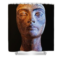 Unfinished Nefertiti Shower Curtain by Nigel Fletcher-Jones