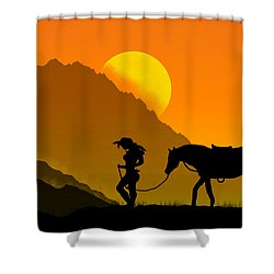 Unforgiven Shower Curtain