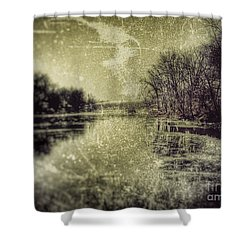 Unfrozen Lake Shower Curtain