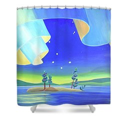 Unfurling Shower Curtain