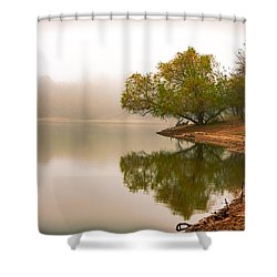 Unger Park Lake At Dawn Shower Curtain