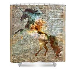 Unicorn Carina Nebula Shower Curtain
