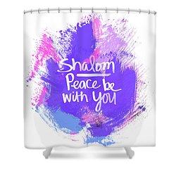 Unicorn Colors Shalom- Art By Linda Woods Shower Curtain