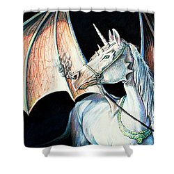 Unicorn Dragon Shower Curtain