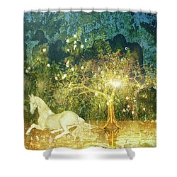 Unicorn Resting Series 3 Shower Curtain