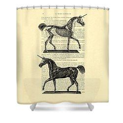 Unicorns Anatomy Shower Curtain by Madame Memento