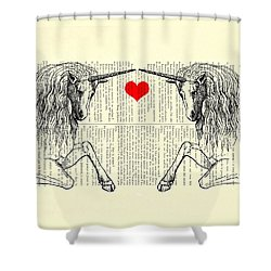 Unicorns Love Shower Curtain