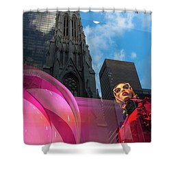 Shower Curtain featuring the photograph Unimpressed In New York by Alex Lapidus