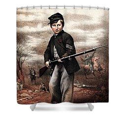 Union Drummer Boy John Clem Shower Curtain by War Is Hell Store