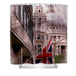 Union Jack By St. Paul's Cathdedral Shower Curtain