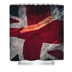 Union Jack Fine Art, Abstract Vision Of Great Britain Flag Shower Curtain