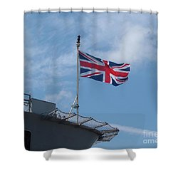 Union Jack Shower Curtain by Richard Brookes