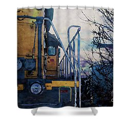Union Pacific 1474 Shower Curtain by David Blank