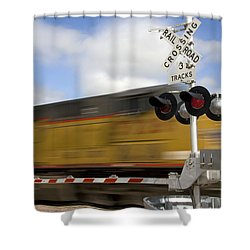 Union Pacific Coal Train Shower Curtain by David R Frazier and Photo Researchers
