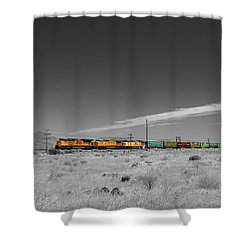 Union Pacific In Columbia Gorge Shower Curtain